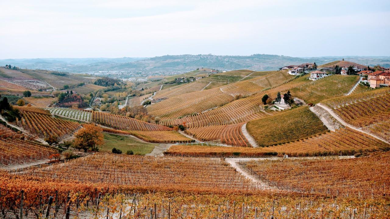 A clássica paisagem de Piemonte