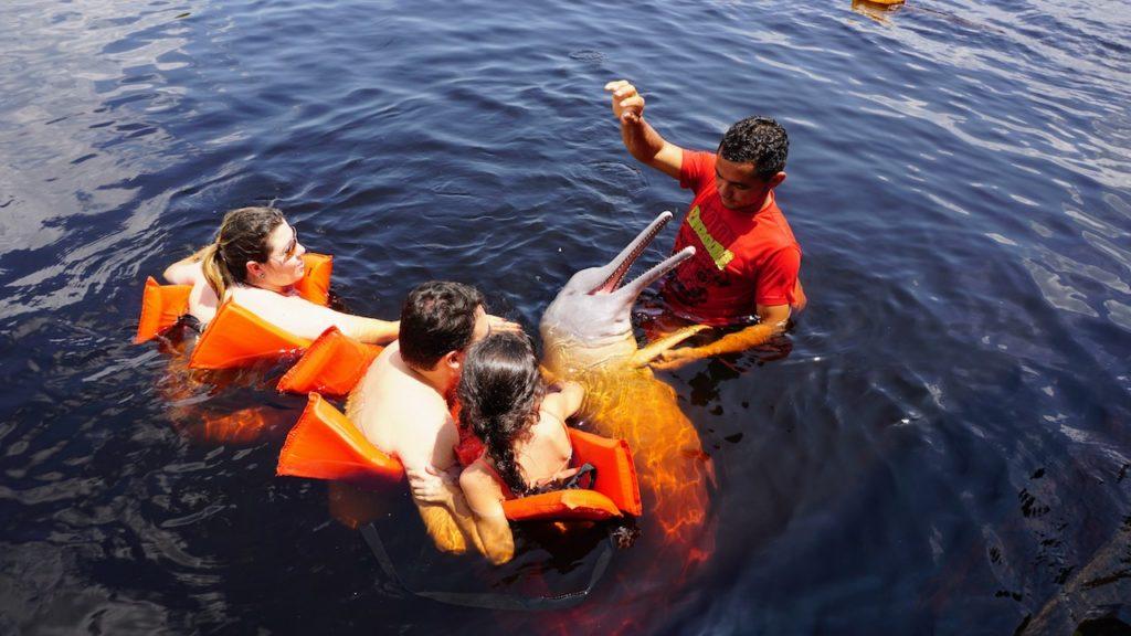 30 coisas antes dos 30 - Nadar com um boto cor de rosa em Manaus