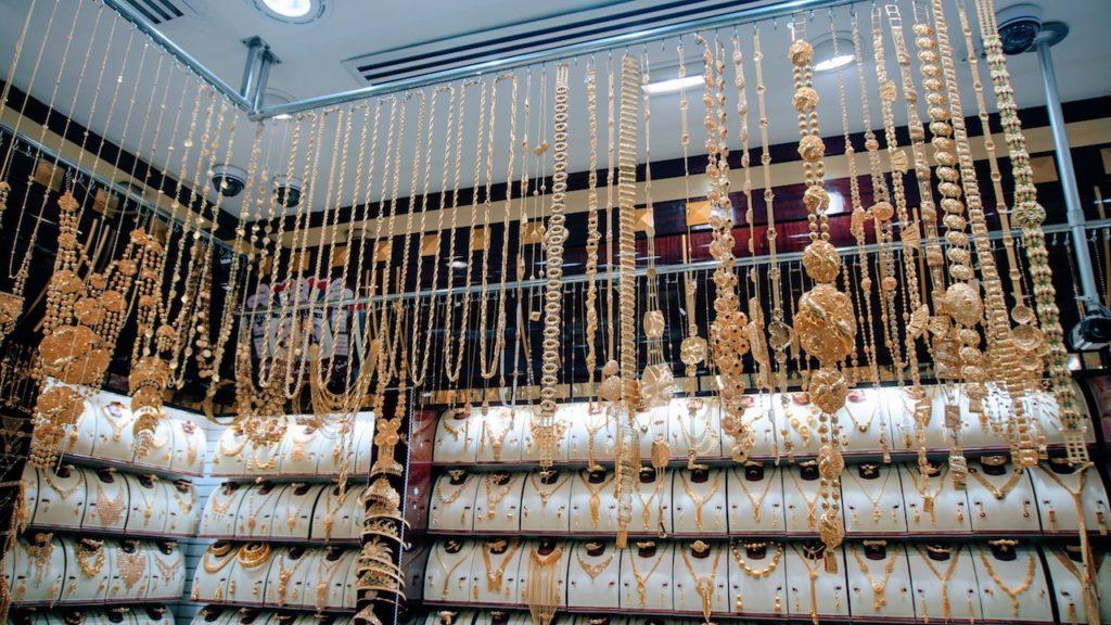 Mercados de Dubai: uma das lojas do mercado de ouro de Dubai