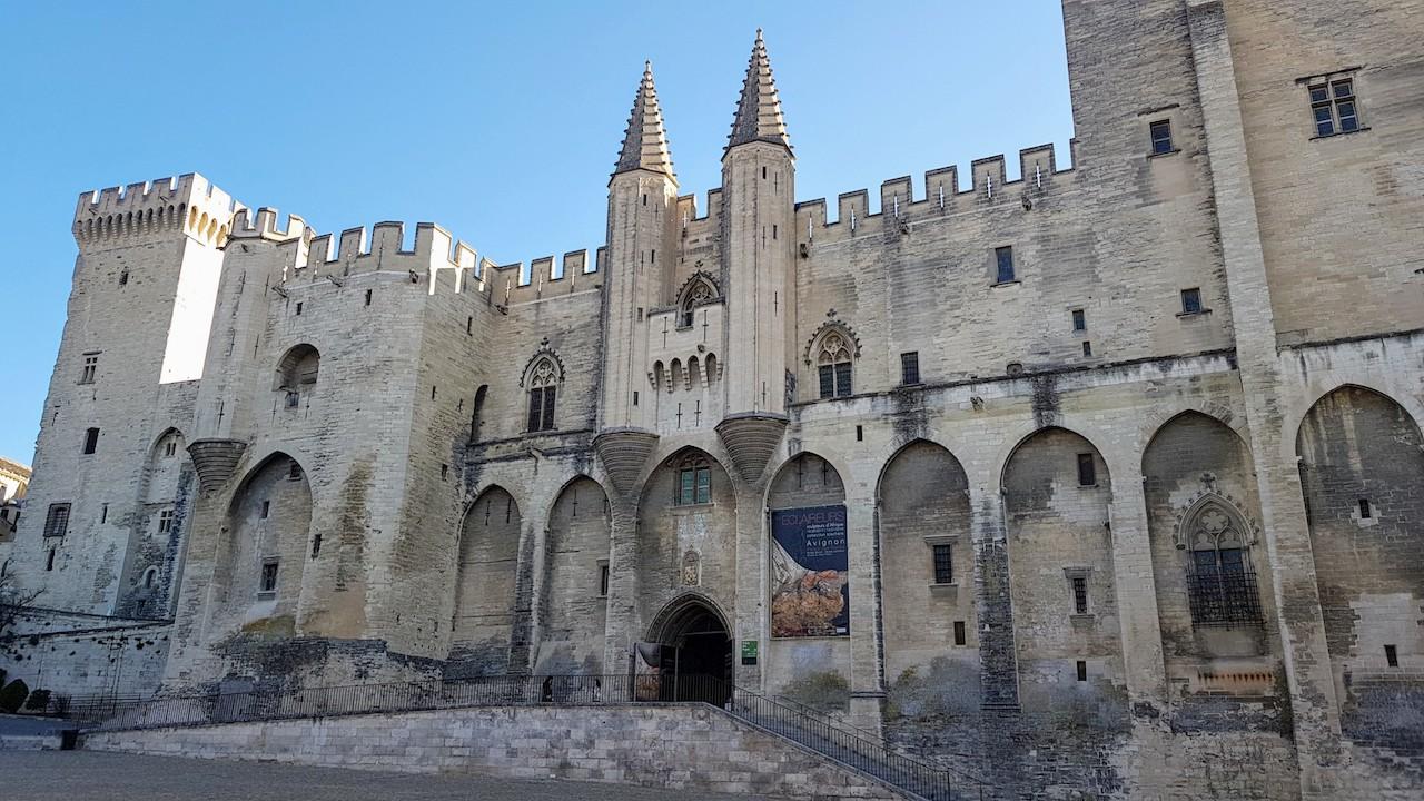 Palácio dos Papas na cidade de Avignon