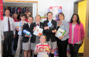 Students and Knights deliver collected items