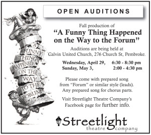 Streetlight Theatre - Audition Forum 15.4