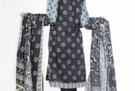 Black Embroidered Dresses For Eid By LSM 2015-16