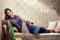 Chiffon Linen Winter Collection By Resham Ghar 2015-16