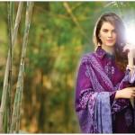 purple dress with shawl