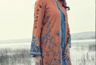 Maria B Linen Winter Dresses For Young Girls 2015-16