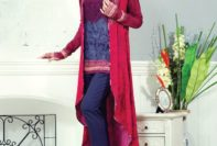 Viscose Fabric Alkaram Winter Collection Shalwar Kameez 2015