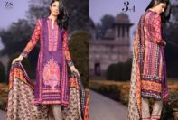 Linen Embroidered Kalyan Dresses ZS Textiles Collection 2016