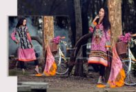 Marina Fabric Embroidered Dresses By Lala Textiles 2015-16