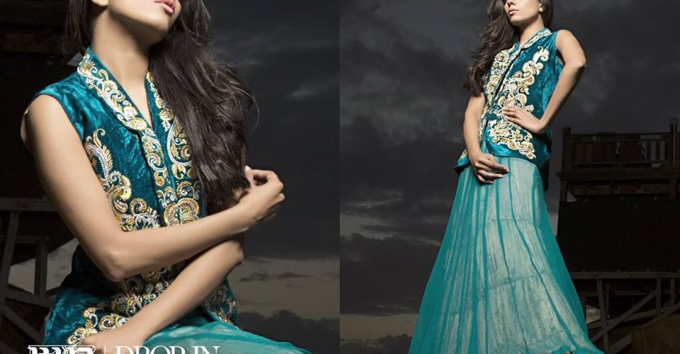 Floor Length Spring Formal Wear Waseem Noor Collection 2016