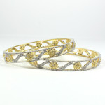 Gold Diamond Bangles Jewelry For Young Girls 2016
