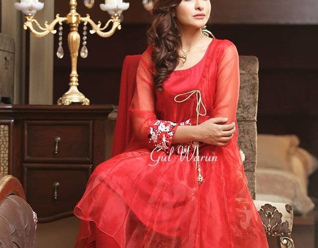 Three Piece Ready To Wear Formal Dresses Gul Warun 2016