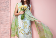 Khaadi Lawn 3 Piece Venetian Laces Summer Collection 2016