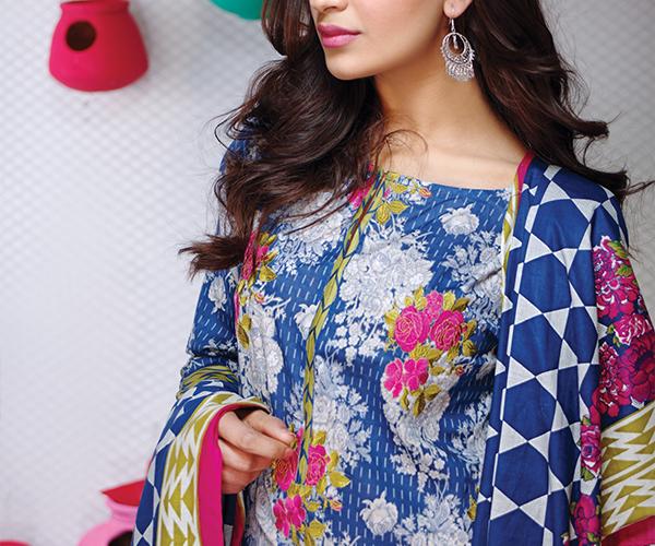 Khaadi Lawn Colorful Geometrics Collection