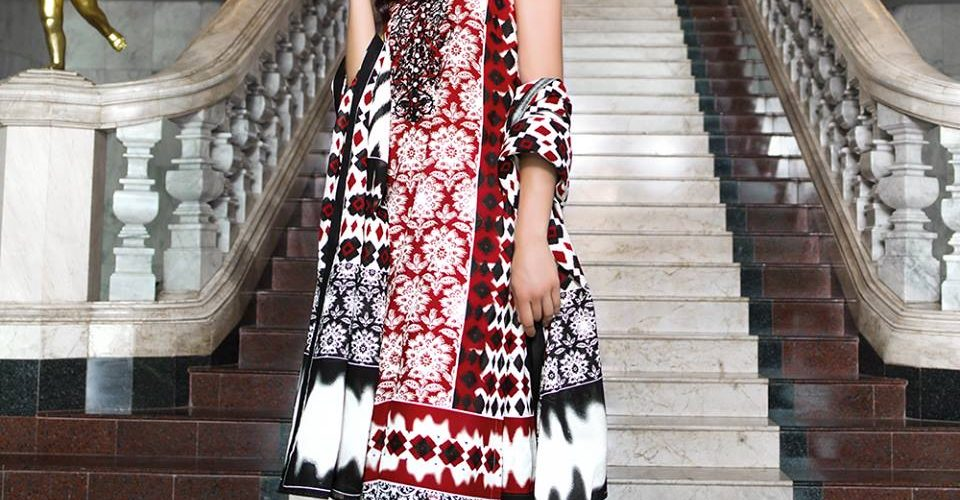 Three Piece Embroidered Lawn