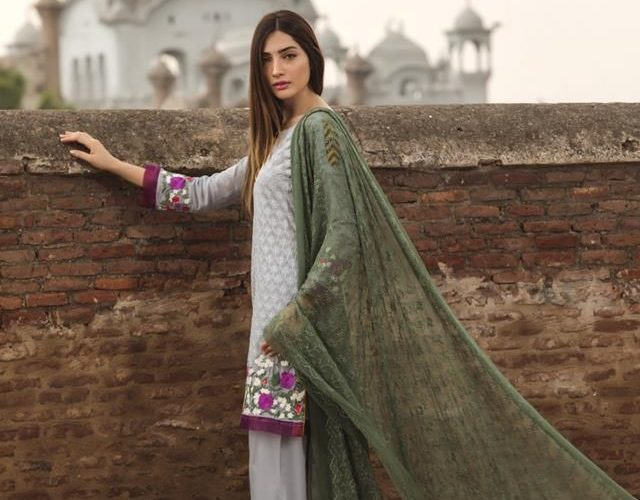 Luxury Embroidered Floral Vintage Eid Collection 2018