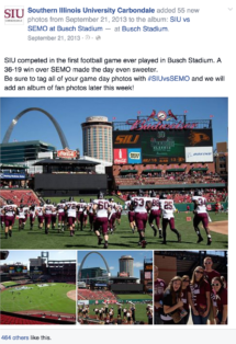 SIU - Facebook Sporting Album (SIU vs. SEMO at Busch Stadium)