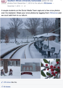 SIU - Facebook Album (Winter Storm on Campus)