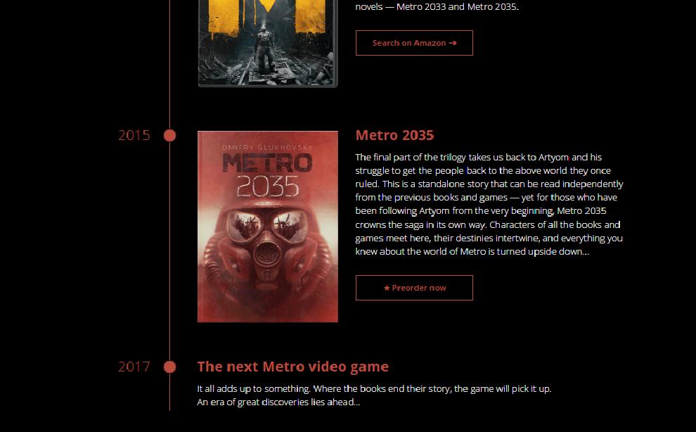 Metro Series Timeline