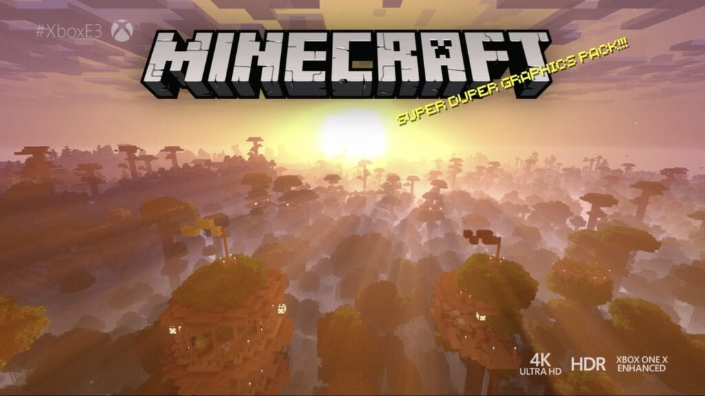 Minecraft 4k Trailer Shows The Games New Visuals On Xbox