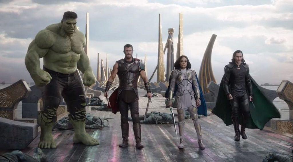 Shot from the latest Thor: Ragnarok TV spot