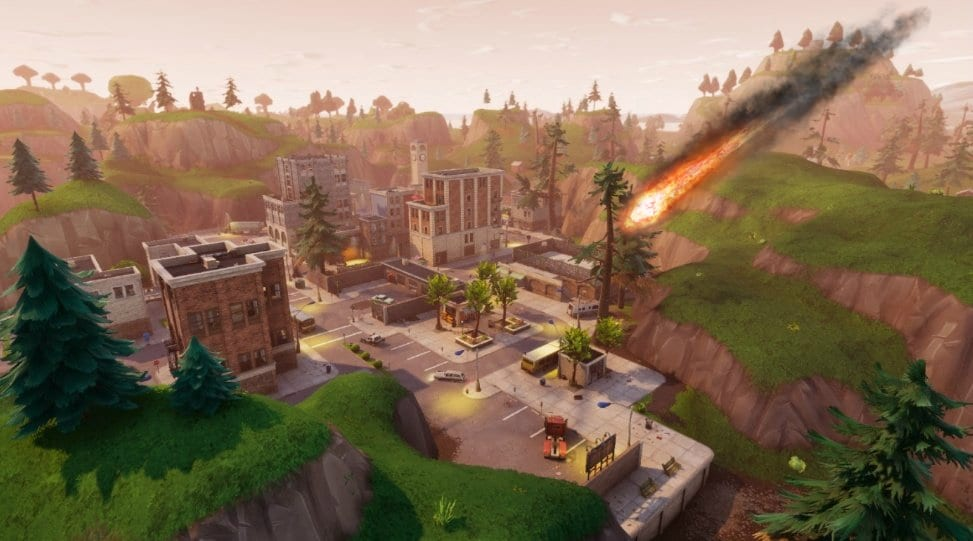 Fortnite's Tilted Towers May Be Getting Destroyed With A Comet