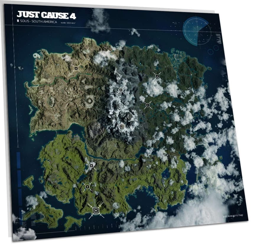 Just Cause 4's Massive Map Revealed