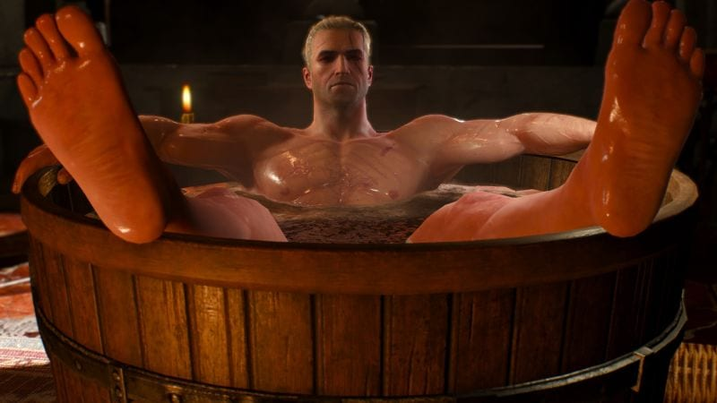 Witcher Bathtub Scene