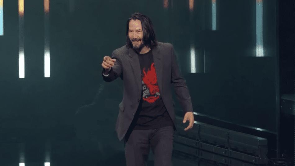 Keanu Reeves Autographs Hilarious Cyberpunk 2077 Meme Sign