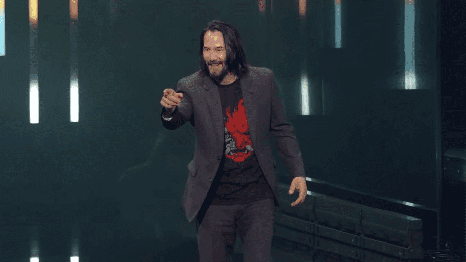 Keanu Reeves Autographs Hilarious Cyberpunk 2077 Meme Sign