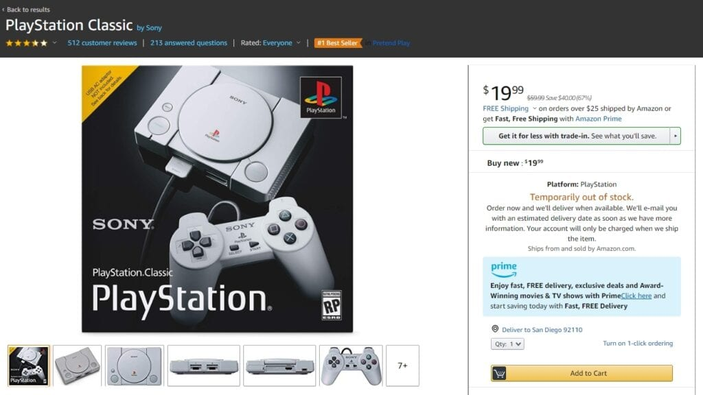 PlayStation Classic Drops To Lowest Price Yet For Prime Day