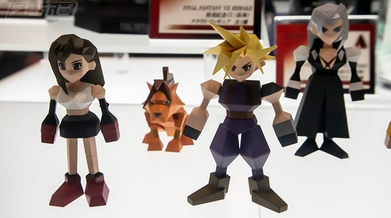 Final Fantasy VII Remake Low-poly Figures Revealed At TGS 2019