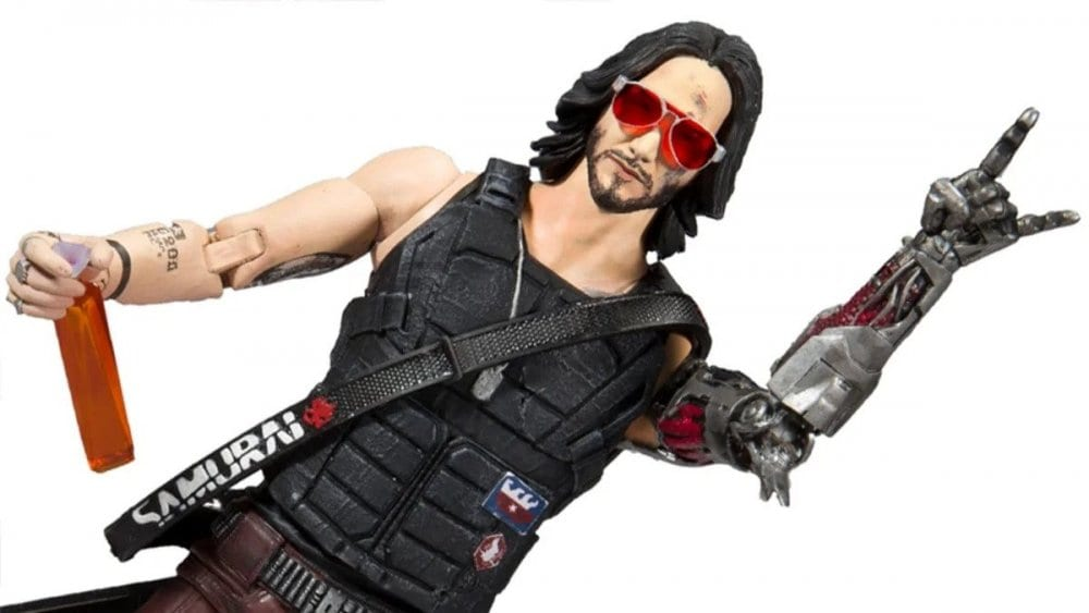 Cyberpunk 2077 Keanu Reeves Johnny Silverhand Figure