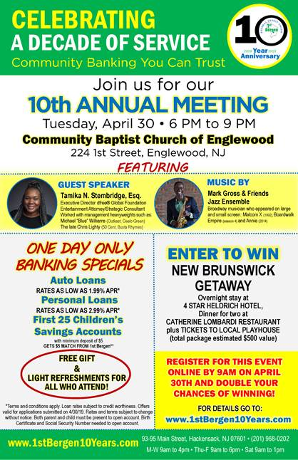 Join us for our 10th Annual Meeting