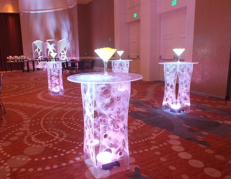 Acrlyic Highboy Table Glow