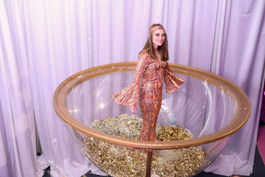 Bridal shower champagne glass