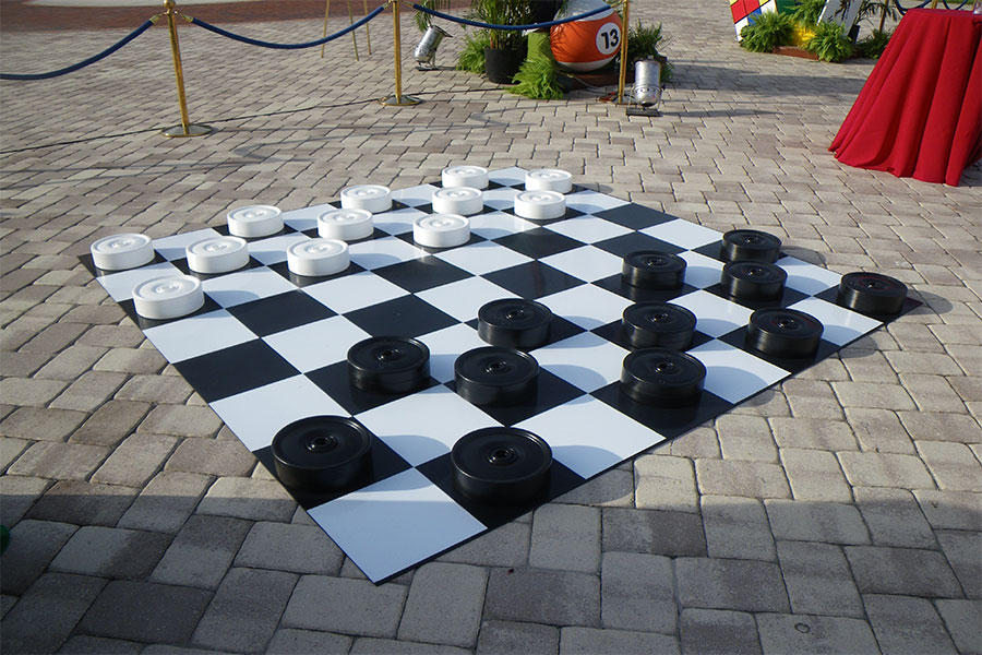 Giant Checkers yard game