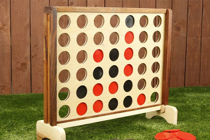 Oversized Connect Four game