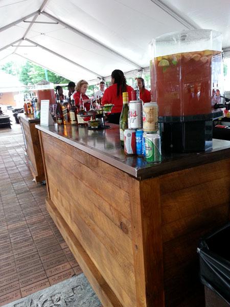 Rustic bar rental