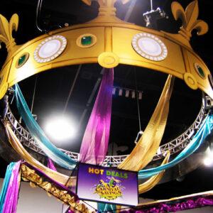 Mardi Gras Giant Truss Crown