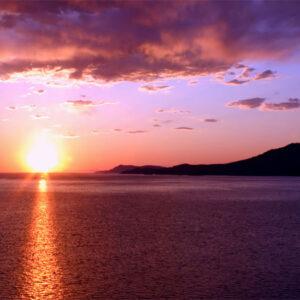 Sunset backdrop