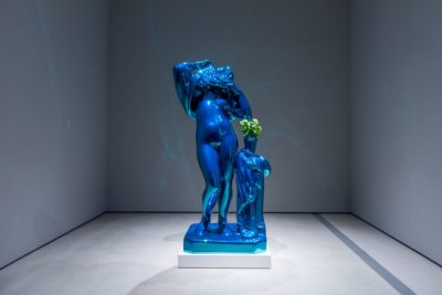 Creature collection installation featuring Jeff Koons's Metallic Venus, 2010-12; photo by Ben Gibbs, courtesy of The Broad