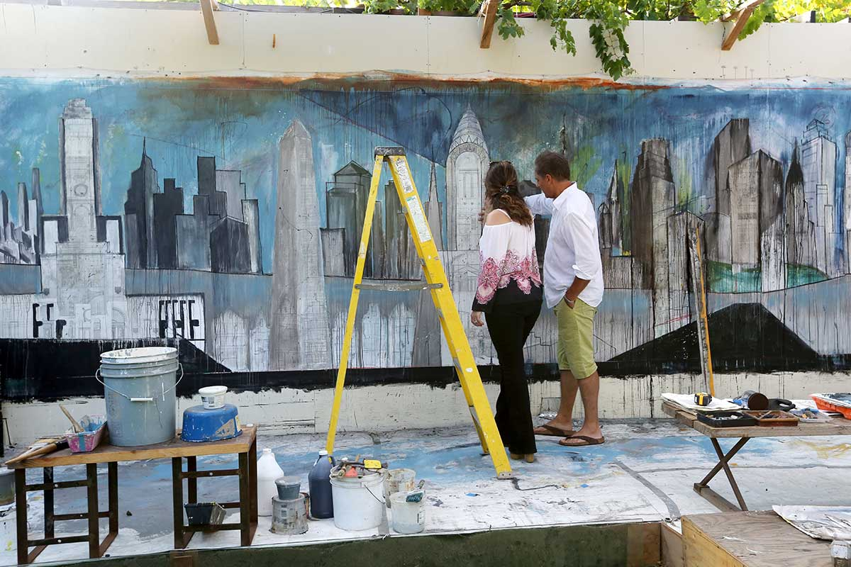 Review: Architect, Artist, and Gallery Owner Flavio Bisciotti built a City – Life after the Ashes (story and video)