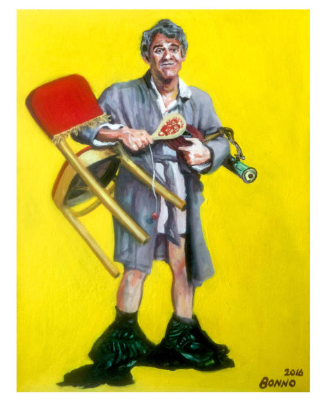 ART TODAY 07.07.17: Steve Martin from the Jerk poster by Chris Bonno