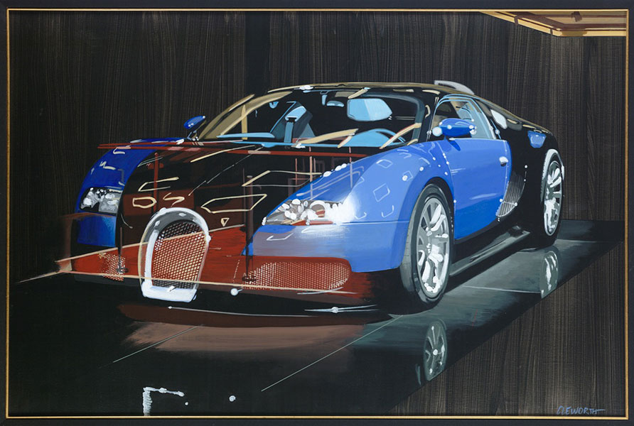 """ART TODAY 09.22.17: Bugatti at the """"LA Auto Show"""" – Tomorrow, meet the man behind the art and view recent works by Harold Cleworth"""