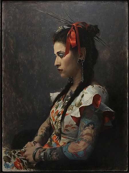 Portrait by Sean Cheetham, Oil On Board