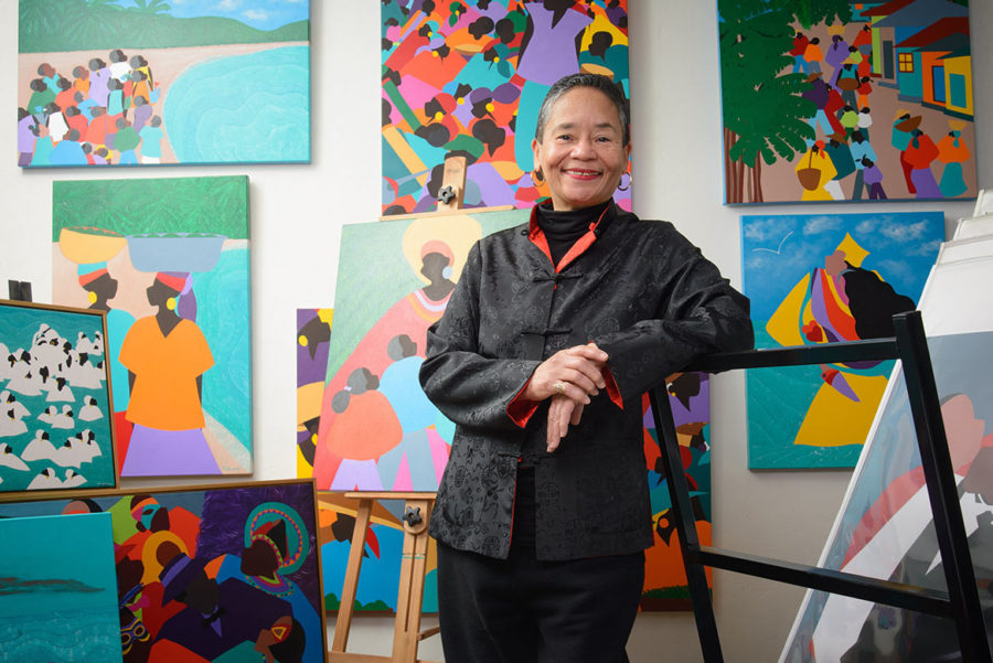 The Review: Meet Dr. Synthia SAINT JAMES, in her atelier – Read entire Acrostic Interview