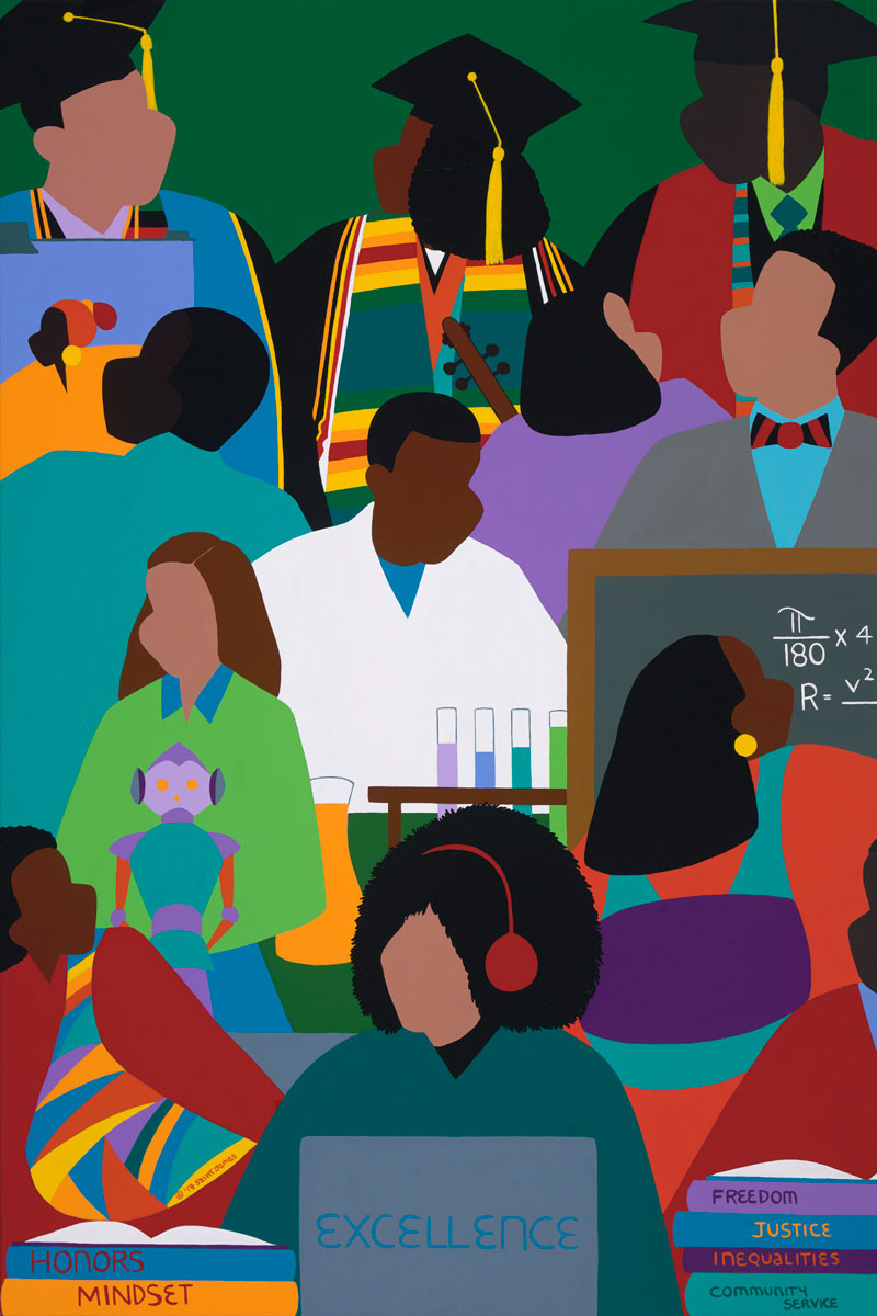 """ART TODAY 021318 """"Honors Mindset"""" – A commemoration to Historical Black Colleges by Synthia SAINT JAMES"""