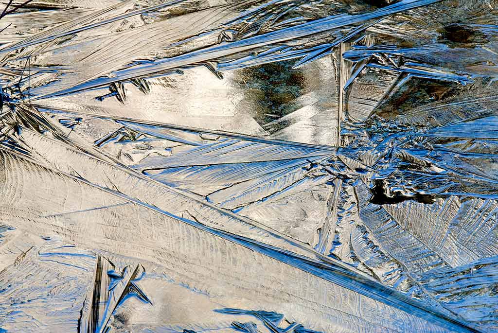 ART TODAY 11.10.17 Ice, reflecting sky and mountains – Greg Tucker showing off his art
