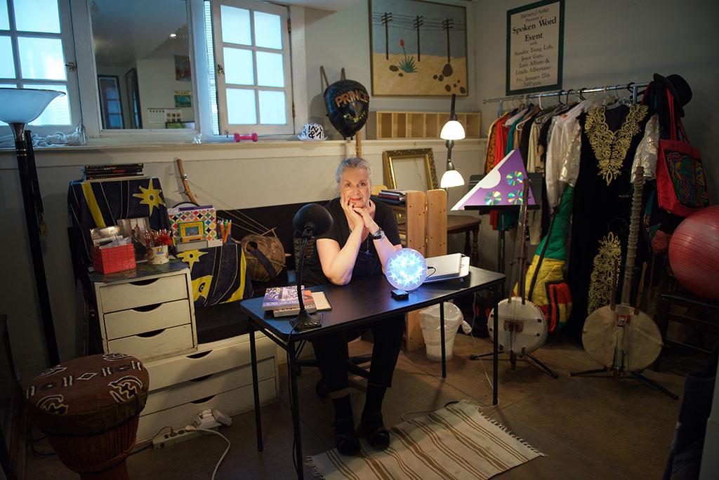 "Salient Sunday: Debbie Zeitman's encore of ""Before they Go"" – Linda J. Albertano in her studio, see the Photo Exhibit at Wabi-Sabi"